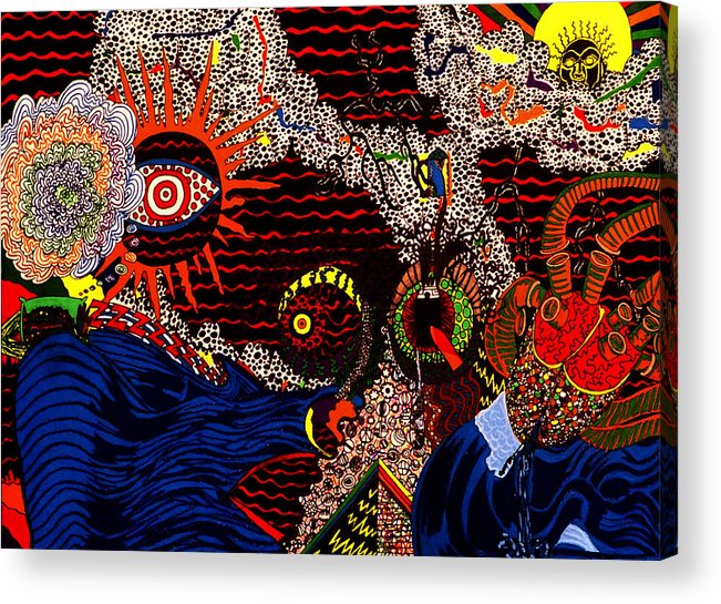 Abstract Acrylic Print featuring the print Temptation by William Watson