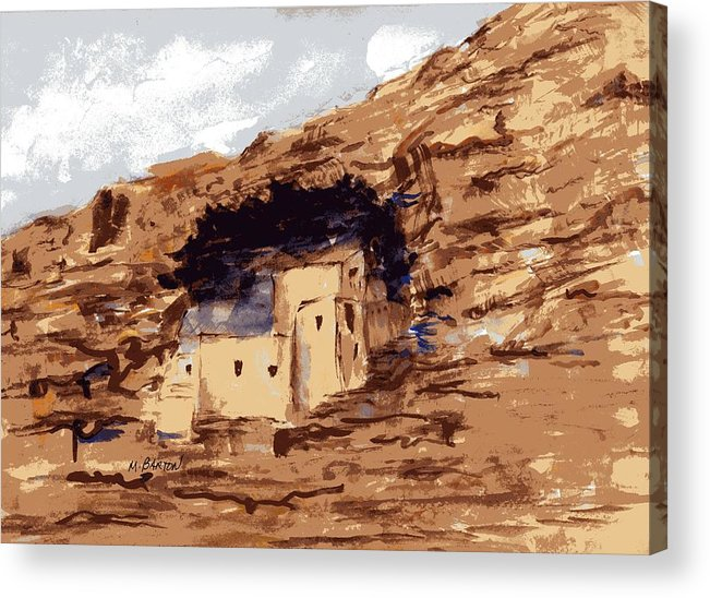 Landscape Acrylic Print featuring the painting The Castle by Marilyn Barton