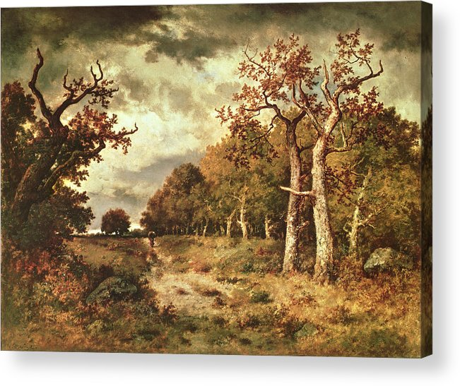 The Acrylic Print featuring the painting The Edge Of The Forest by Narcisse Virgile Diaz de la Pena