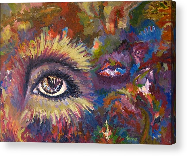 Abstract Acrylic Print featuring the painting The Eye by Laura Tveras