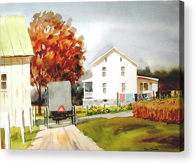 Amish Acrylic Print featuring the painting The Homestead by Faye Ziegler