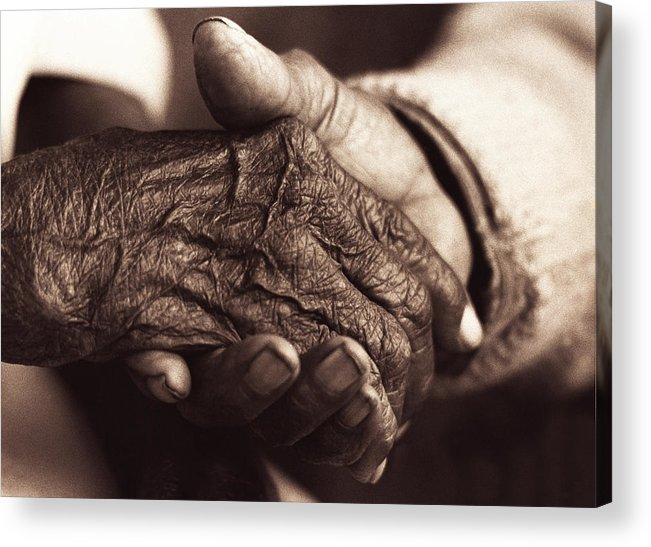 Holding Hands Acrylic Print featuring the photograph The Power Of Love by John Bradford