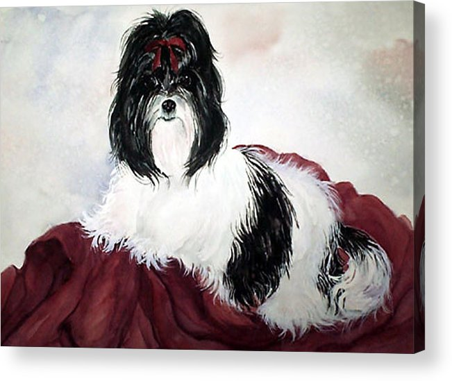 Canine Acrylic Print featuring the painting The Princess by Gina Hall
