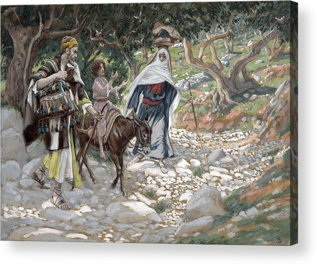 Ass Acrylic Print featuring the painting The Return From Egypt by Tissot