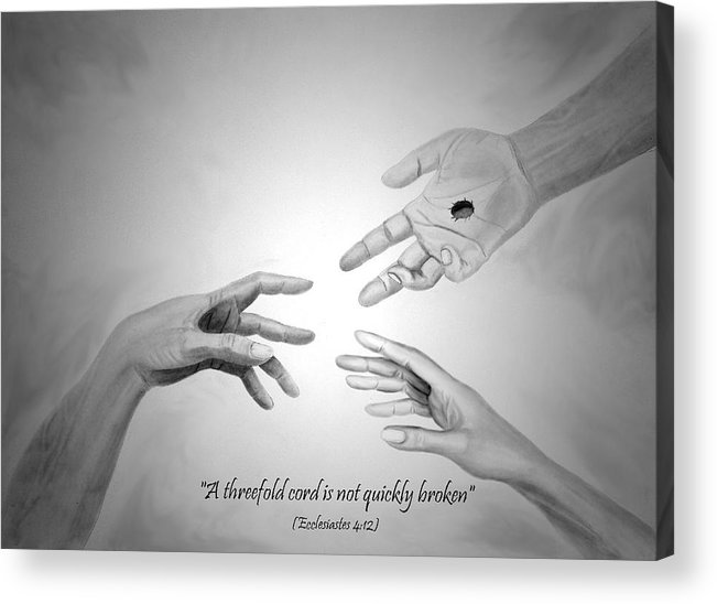 Jesus Acrylic Print featuring the drawing The Wedding Gift by Michael McFerrin