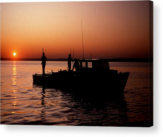 Maritime Acrylic Print featuring the photograph Tonger's Sunrise by Skip Willits