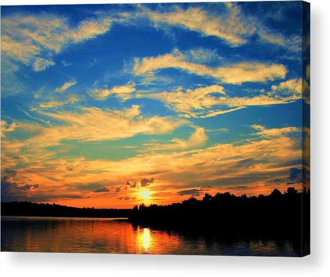 Sunset Acrylic Print featuring the photograph Touch The Wind by Mitch Cat