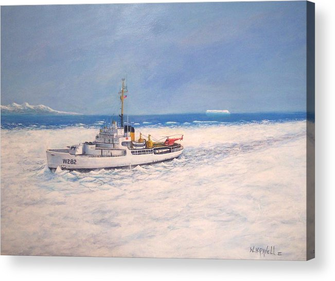Ships Acrylic Print featuring the painting U. S. Coast Guard Icebreaker Northwind by William H RaVell III