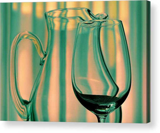 Still Life Acrylic Print featuring the photograph Vase And Glass by Dan Holm