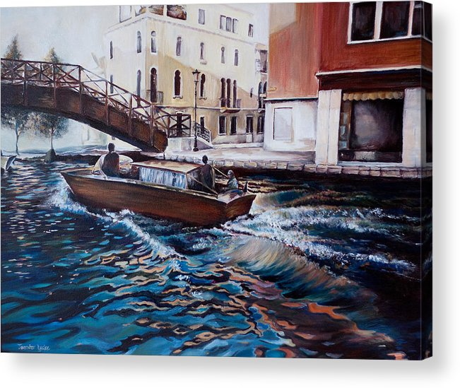 Venice Acrylic Print featuring the painting Venice by Jennifer Lycke