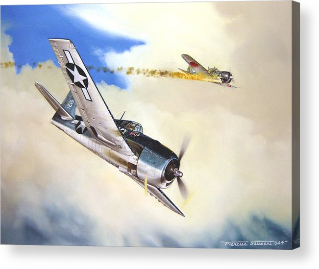 Military Acrylic Print featuring the painting Victory For Vraciu by Marc Stewart