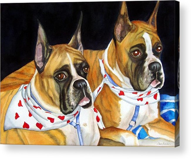 Animals Acrylic Print featuring the painting Waiting To Show by Gail Zavala