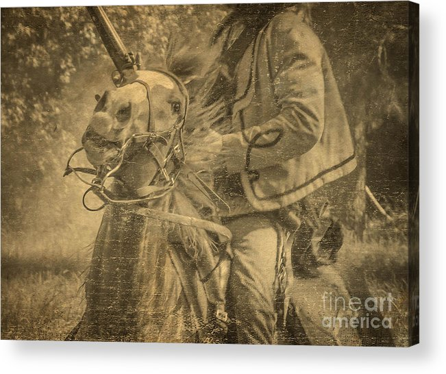 War Horse Acrylic Print featuring the mixed media War Horse2 by Kim Henderson