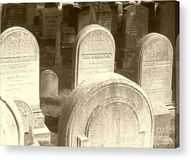 Cemetery Acrylic Print featuring the photograph Welcome by Debbi Granruth