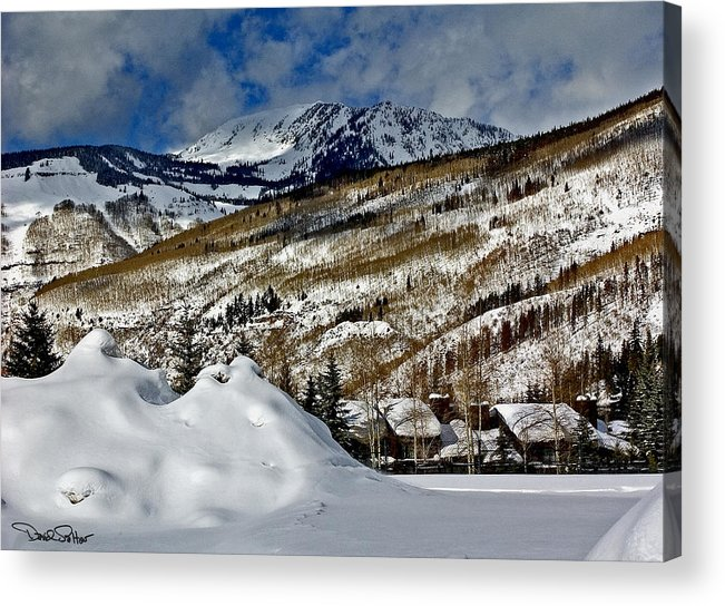 Winter Landscape Acrylic Print featuring the photograph Winter In East Vail by David Salter