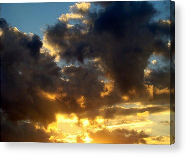 Clouds Acrylic Print featuring the photograph Winter Sunset Three by Ana Villaronga