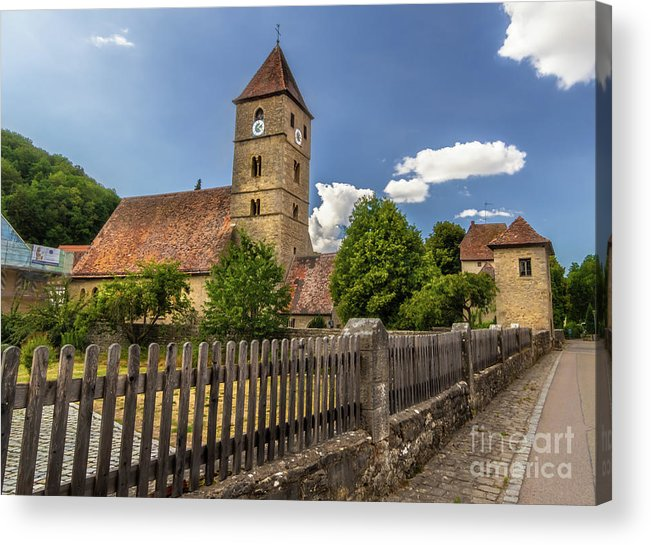 Rothenburg Acrylic Print featuring the photograph Rothenburg Ob Tauber Church by Norma Brandsberg