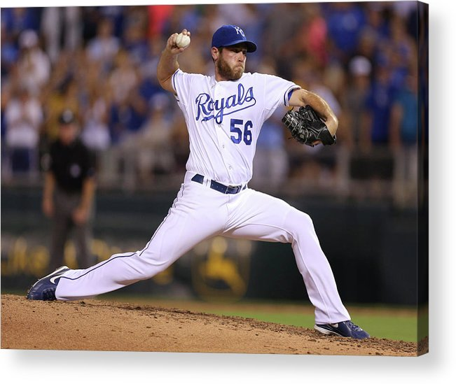 Ninth Inning Acrylic Print featuring the photograph Greg Holland by Ed Zurga