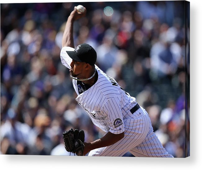 Baseball Pitcher Acrylic Print featuring the photograph Juan Nicasio by Doug Pensinger