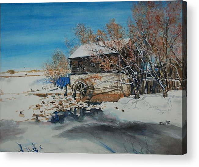 Mill Acrylic Print featuring the painting Grants Old Mill by Susan Moore