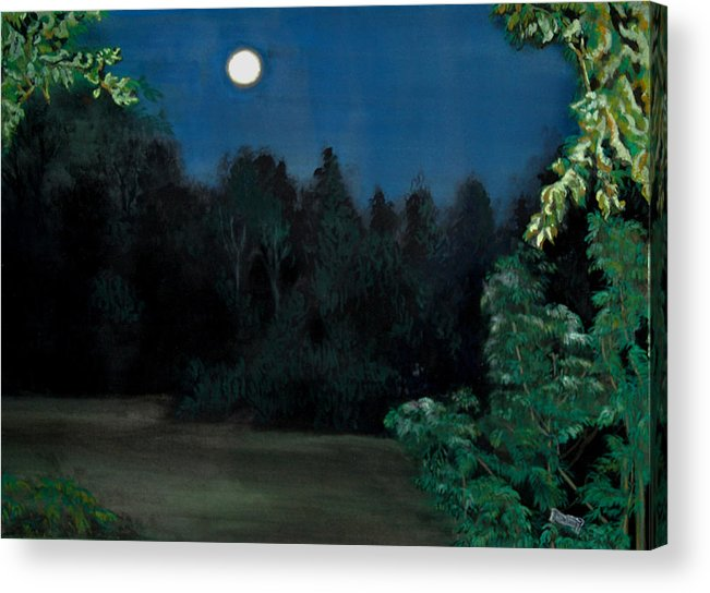 Moon Acrylic Print featuring the painting Moon Shadow by Susan Moore