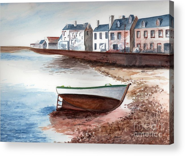 Small Boat Acrylic Print featuring the painting Small Boat by Christian Simonian