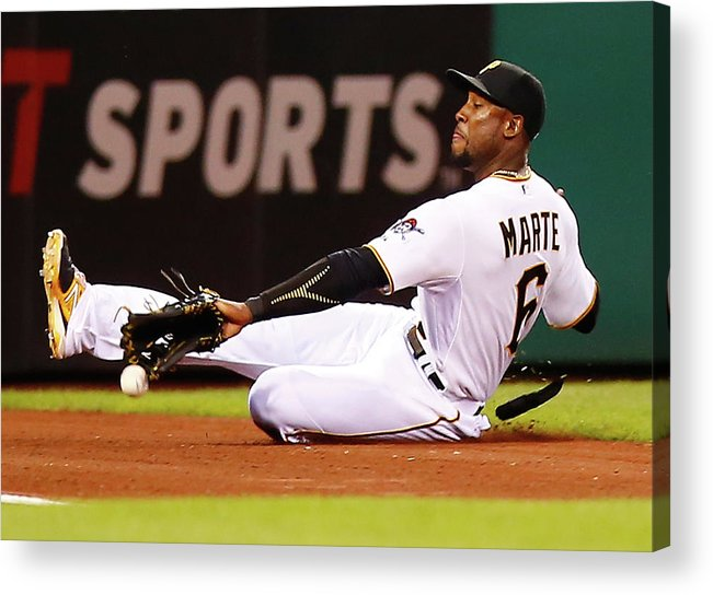 People Acrylic Print featuring the photograph Starling Marte by Jared Wickerham