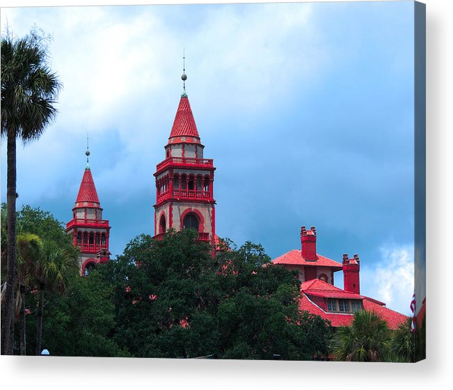 St Augustine Acrylic Print featuring the photograph Flagler College St Augustine Fl by Marilyn Holkham