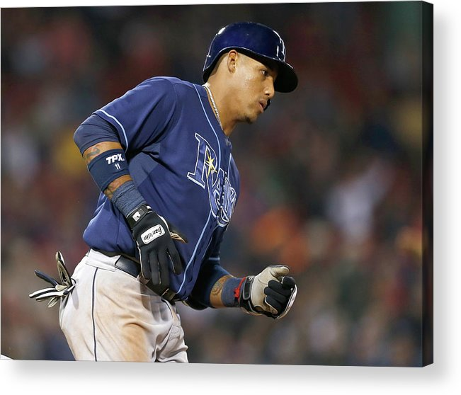 Game Two Acrylic Print featuring the photograph Tampa Bay Rays V Boston Red Sox - Game 1 by Jim Rogash
