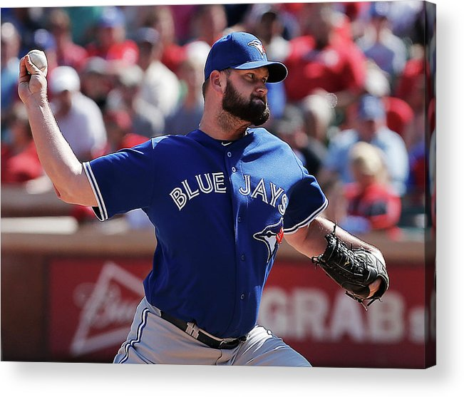 American League Baseball Acrylic Print featuring the photograph Toronto Blue Jays V Texas Rangers 1 by Brandon Wade