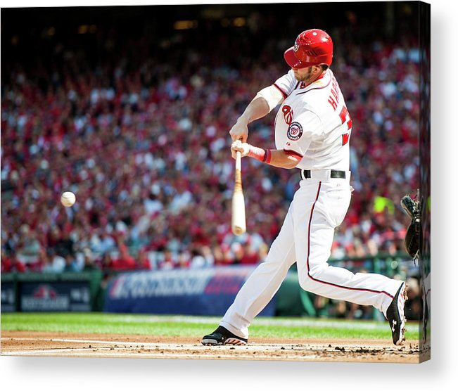 St. Louis Cardinals Acrylic Print featuring the photograph 2012 Nlds Game 3 St. Louis Cardinals V 2012 by Rob Tringali