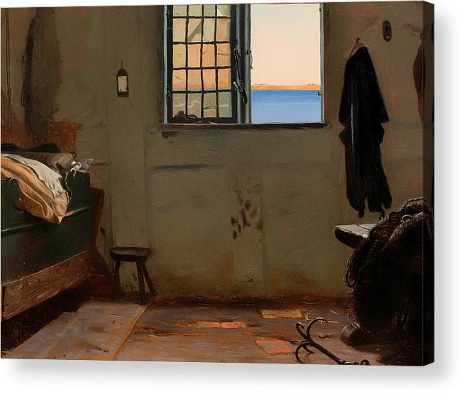 Painting Acrylic Print featuring the painting A Fisherman's Bedroom by Mountain Dreams