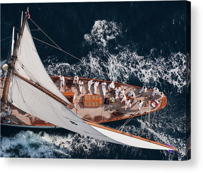 Action Acrylic Print featuring the photograph Above Moonbeam by Marc Pelissier