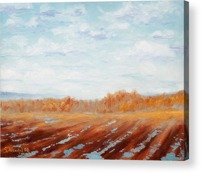 Landscape Acrylic Print featuring the painting After The Rain by Scott Alcorn