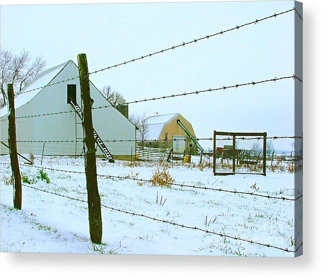 Amish Acrylic Print featuring the photograph Amish Farm In Winter by Julie Dant
