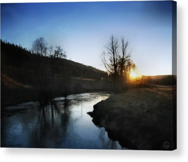 Nature Acrylic Print featuring the digital art Before The Snow by Gun Legler