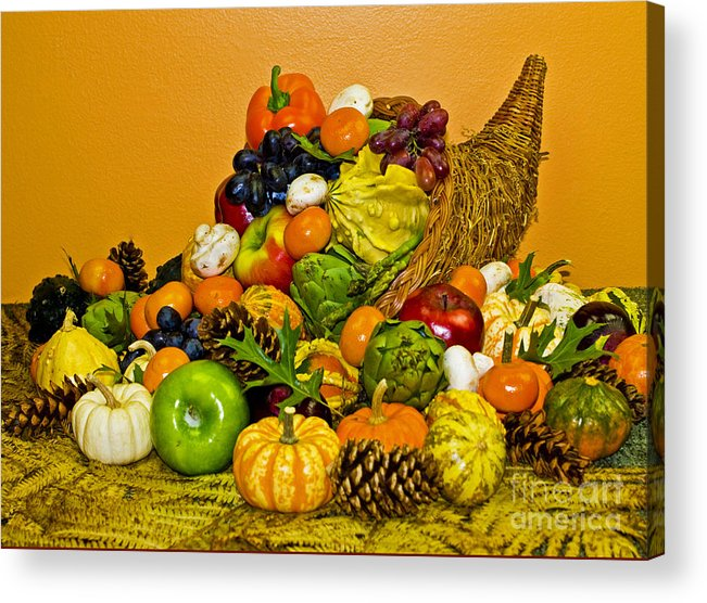 Cornucopia Acrylic Print featuring the photograph Bountiful Harvest by Valerie Fuqua