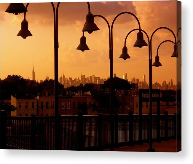 Iphone Cover Cases Acrylic Print featuring the photograph Broadway Junction In Brooklyn, New York by Monique's Fine Art