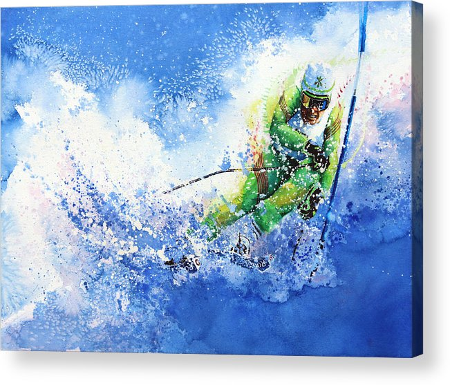 Olympic Sports Acrylic Print featuring the painting Competitive Edge by Hanne Lore Koehler