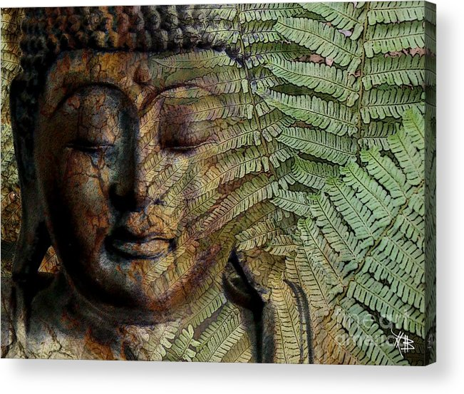 Buddha Art Acrylic Print featuring the photograph Convergence Of Thought by Christopher Beikmann