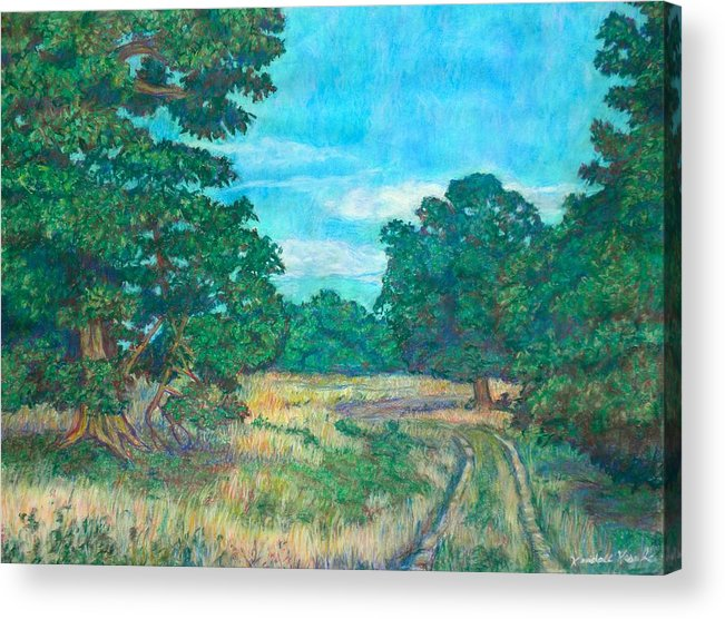 Landscape Acrylic Print featuring the painting Dirt Road Near Rock Castle Gorge by Kendall Kessler