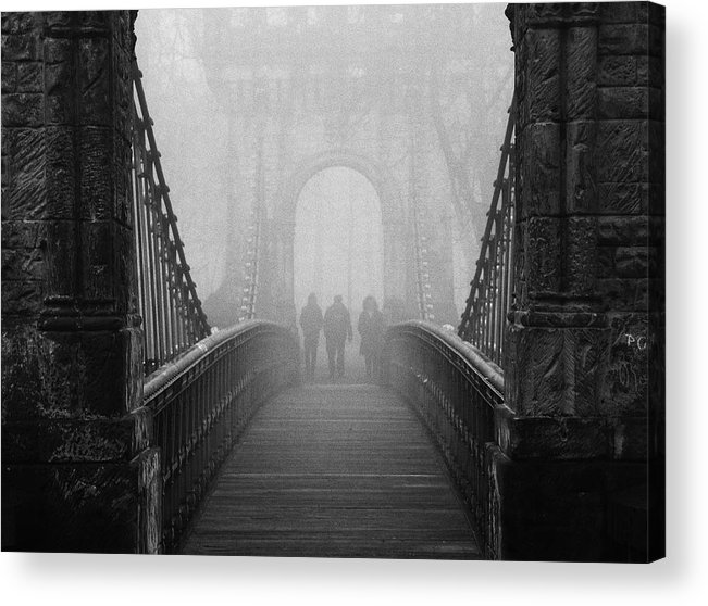 Bridge Acrylic Print featuring the photograph Foggy Day(they) by Catalin Alexandru