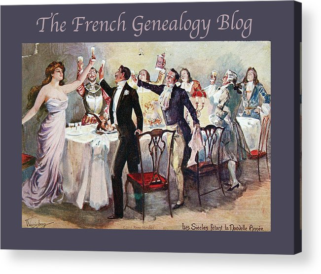 France Acrylic Print featuring the photograph French New Year With Fgb Border by A Morddel