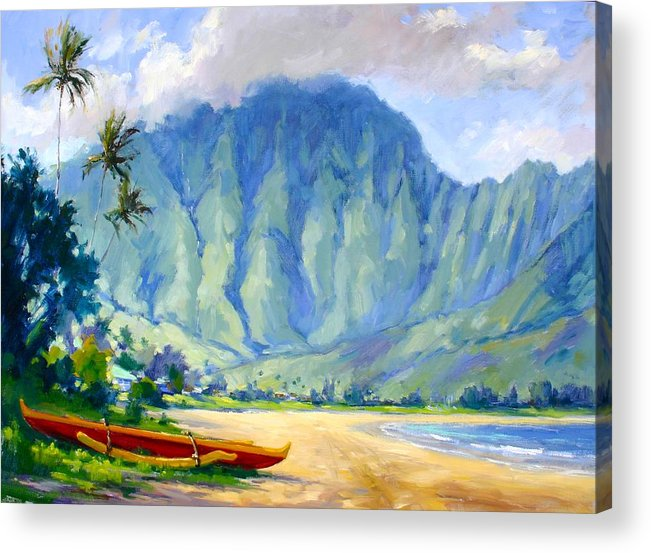 Hawaii Acrylic Print featuring the painting Hanalei Style by Jenifer Prince