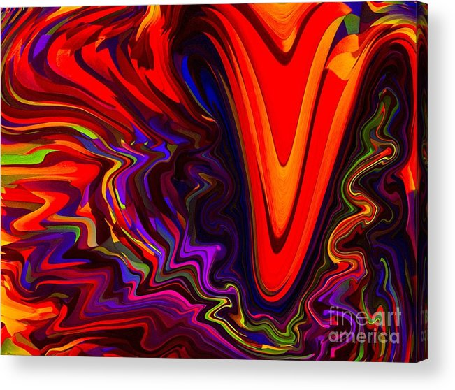 Abstract Acrylic Print featuring the pastel Hot Kiss by Imani Morales