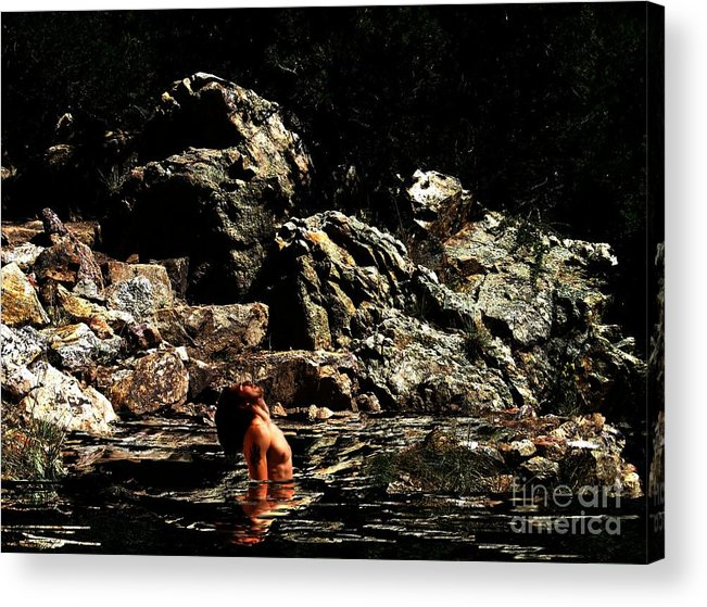 Fitness Acrylic Print featuring the digital art If You Close Your Eyes by Sunset Road Fitness Photography