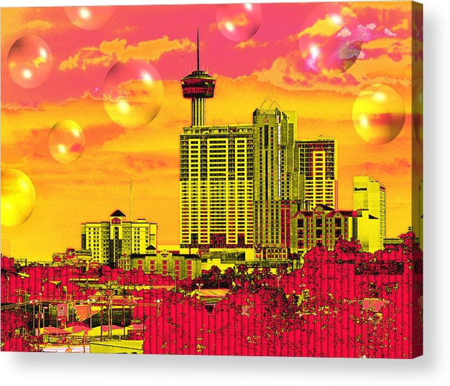San Antonio Acrylic Print featuring the digital art Inner City - Day Dreams by Wendy J St Christopher