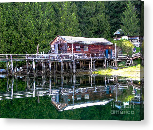 British Columbia Acrylic Print featuring the photograph Lagoon Cove by Robert Bales