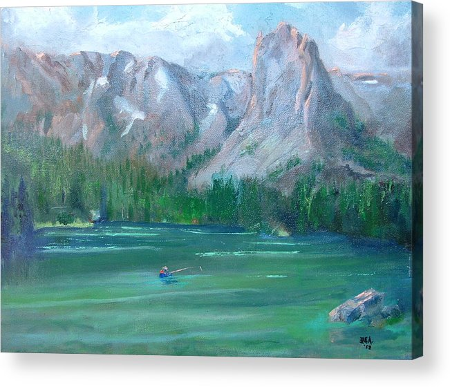Landscape Acrylic Print featuring the painting Lake Mamie by Bryan Alexander