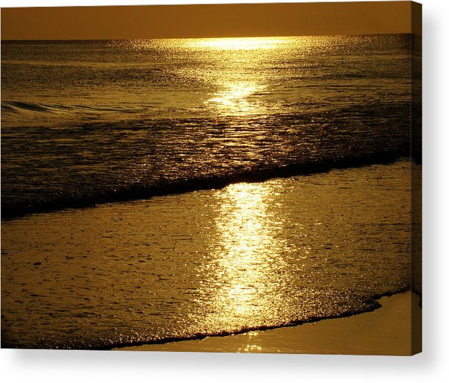 Panama City Beach Acrylic Print featuring the photograph Liquid Gold by Sandy Keeton